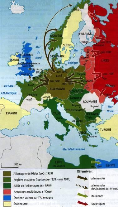 Carte Allemagne Apres Guerre.Le Monde En Guerre